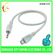 OEM made to order different types micro usb to 3.5mm jack cable