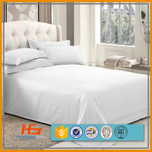 Double brushed microfiber bedding bed sheet set 4 piece (queen white)