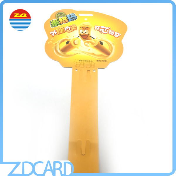 PP Snack Hanging Clip Strip Display For Retail