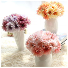 GF16183A Wholesale Home Decorative Artificial Sunflower Silk Gerbera Flower PU Daisy Flower Arangement