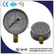 52mm dual air pressure gauge, gas pressure gauge manometer, biogas pressure gauge