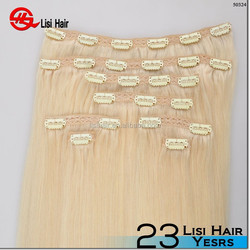 Most Popular Brand Name 160g 180g 200g remy human clip hair extensions double weft