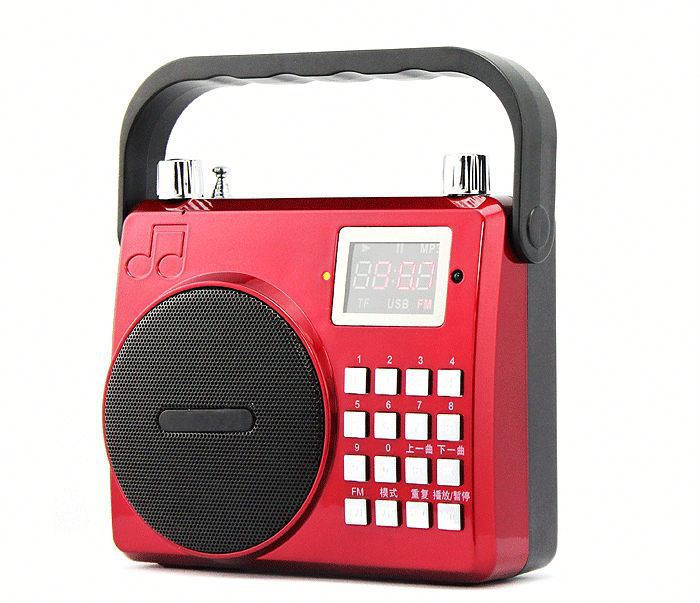Portable MIC SD TF USB Mini Stereo Speaker Music Player FM Radio F/ PC MP3 /4 Brand New