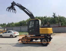 HY-60C 4 WD wheel multifunctional sugarcane &logger excavator for sale