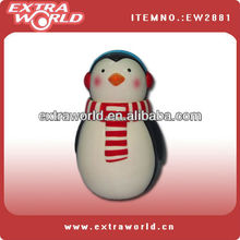 beautiful penguin christmas candy jar