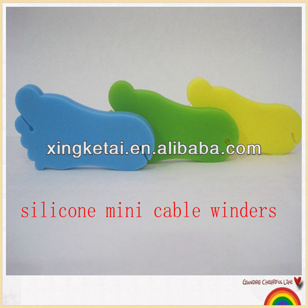 silicone earphone bobbin winder ,silicone cable winders, earphone cord wrap