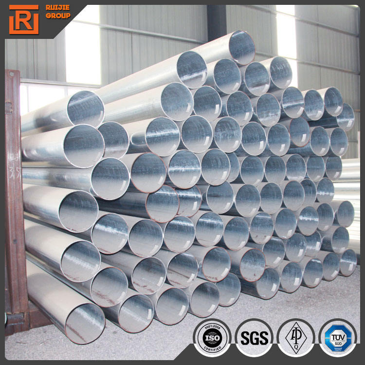 BS 1387 hot dip galvanized steel round tube standard carbon pipe zinc coating 50g steel tube