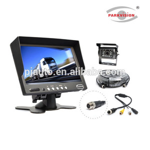 "7"" Heavy Duty Standalone Rear View Reverse Backup Monitor Camera System, Commercial Vehicle Use Surveillance System (PJ-203RS)"