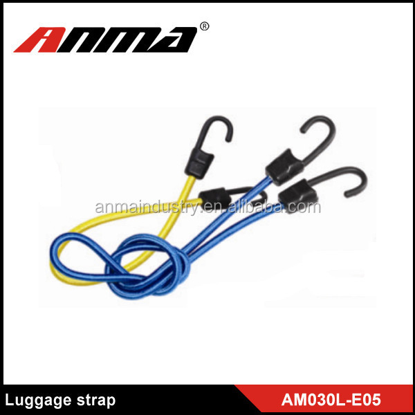 Retractable Car Luggage Elastic Rope Strap With 2 Hooks