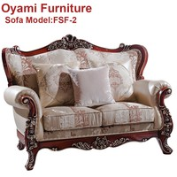 Competitive Price French style european luxury hand carved sofa set