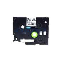 wholesale compatible TZe 231 TZe-231 TZe231 label tape 12mm black on white tape TZe-231 for brother made in china