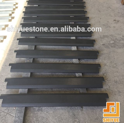 China natural shangxi black granite door threshold