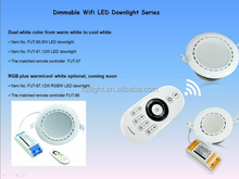 Smart home lighting high power 12W Led downlight ceiling/ spot lighting wireless wifi led lamp 12w wireless led rgb downlight
