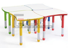 Assemble ergonomic size children table, adjustable height child study table and desk