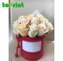 Printing wholesale paper flower hat box for promoting sales