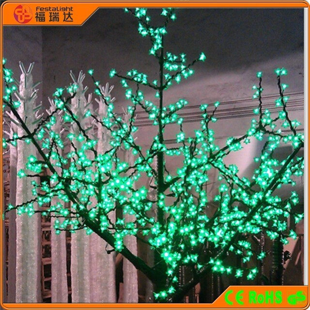 led lighted trees for street decorations, outdoor tree illumination lights