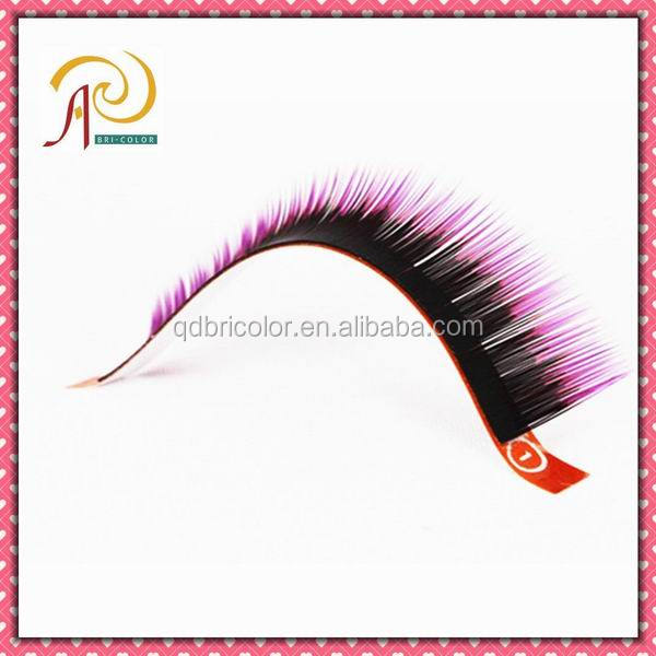 Multi-color Two-tone Synthetic Hair Individual Eyelash Extension