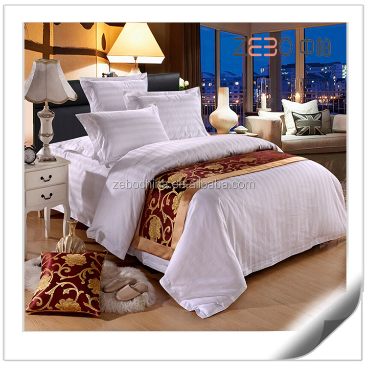 100% Cotton Wholesale Queen Size White Bed Sheets bed cover hotel