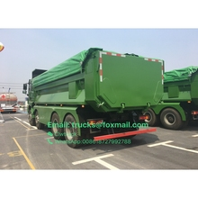 Dongfeng 6*4 12 wheeler 25 ton top quality tipper truck loading backhoe machine