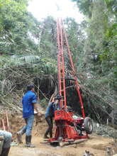 50m geotechnical drilling rig with SPT hammer