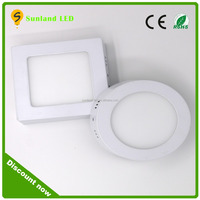 Surface mounted high quality Epstar 2835 smd led panel light dimmable for hotel rooms round led panel light dimmable