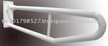 White coated stainless steel hinged rail