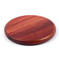 NW170F Solid Wood Surface Fast Qi Wireless Charger Charing Pad