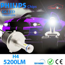 Qeedon car tuning h8 4500lm led auto led-scheinwerfer h7 light bulbs