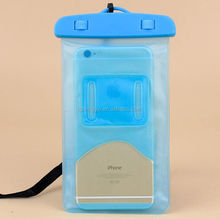 2015 Hot new products cheap promotional gift waterproof cell phone bag, mobile phone PVC water resist cases