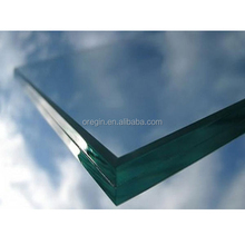 Clear and frosted tempered laminated safety glass with eva or pvb film m2 price