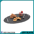 Hot Oval Black Slate Tray with Handle , Natural Stone Slate Serving Board, Black Slate Dishes
