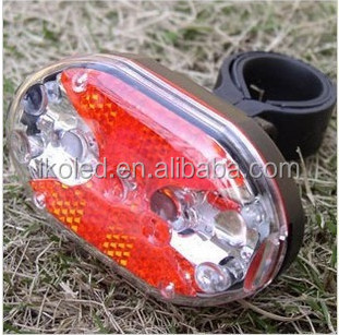 Made in China colorful 9 LED AAA battery bicycle rear and tail light set