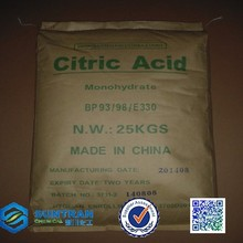Crystal citric acid powder form widely used in food with paper bag