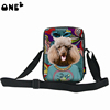 ONE2 Design cute dog pattern women two sided shoulder bag