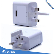 For Samsung S6 Fast Charger UK 3 Plug Plug Mobile USB Wall Charger For Travel Charger