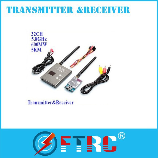 TS832 RC832 wireless Long Range 5.8Ghz 600mw 32ch Video Audio Transmitter receiver FPV equipment For DJI phantom 2