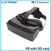 2016 Newest With Remote Bluetooth Control Google Cardboard Virtual Reality VR BOX 3D Glasses for Iphone Smart