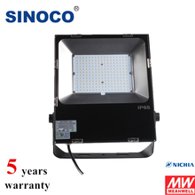 Integrated design Meanwell Driver ip65 outdoor waterproof 100w 150w 180w 200w led flood light