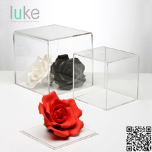 Eco-friendly luxury Acrylic flower box Display cubes - 5 sided