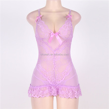 High fashion lace babydoll dress adult women hot sexy asian lingerie