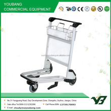 Hot sell 3 wheels aluminum alloy airport luggage trolley with brake (YB-AT02)