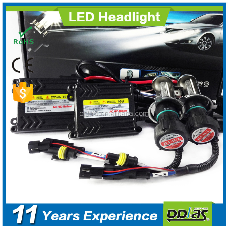 guangzhou wholesale automobile hid conversion 12v 35w h7 h4 slim ballast xenon headlight bulb hid kit