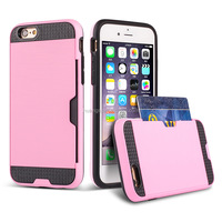 new products 2016 smart phone tpu pc case cover with card slot pc tpu case for iphone 6 china suppliers