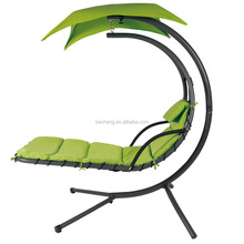 Hanging Chair Hanging Chaise Lounger Chair Arc Stand Air Porch Swing Hammock Chair Canopy Teal