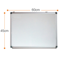 Standing white board with wheels