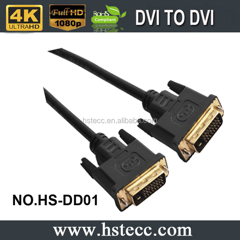 24K Gold Plated DVI to DVI Cable M/M AV Cable for HDTV