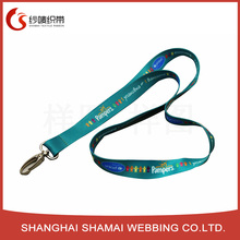Customed your own logo free sample and design heat transfer cartoon character lanyards