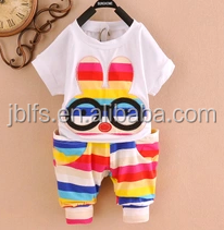 Organic cotton baby clothing, custom fashion baby wear/baby garment, cartoon design wholesale baby clothes