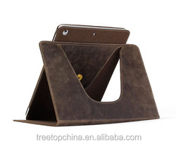 360 Degree Rotating Crazy Horse Genuine Leather Case for Ipad Air