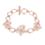 Women Designs Jewelry Fashion Custom Opal Crystal Stone Chain Engagement Bracelets